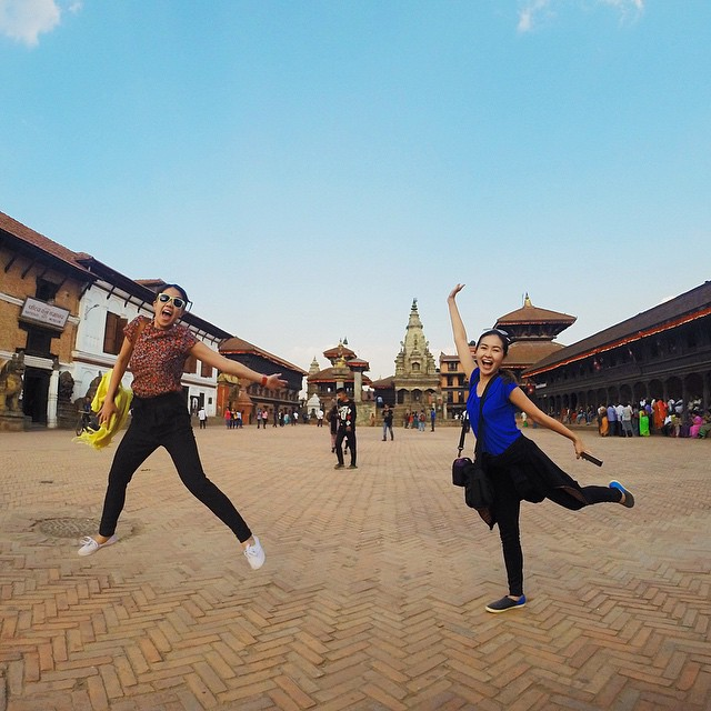 the crazy girls in #Nepal #lushangeltravels #kathmandu #Bhaktapur #gopro #goprooftheday #goprophotography #lushangeltravelogue #travel #travelblogger #nativeshoesph #keepitlite @nativeshoes #isseymiyake