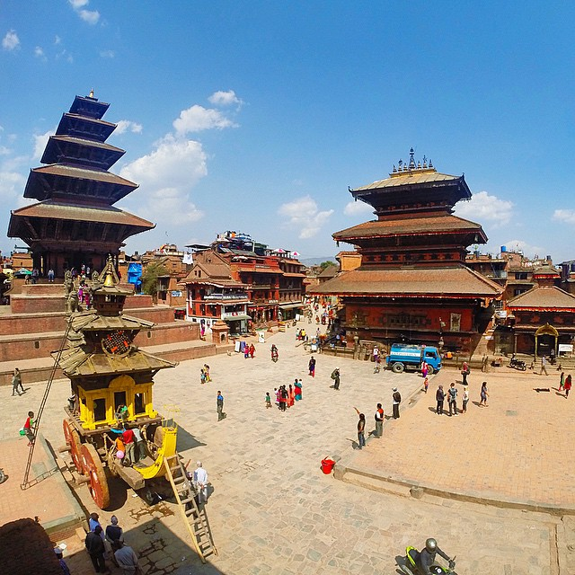 Still in disbelief that 3 weeks ago I was just in Nepal and now a lot of the buildings and historical landmarks have collapsed. Seeing photos of the aftermath of the earthquake gives me goosebumps. I took this photo at #Bhaktapur and I heard the city was heavily destroyed. Let's all continue to #PrayForNepal. #Nepal #kathmandu #earthquake #gopro #travel #lushangeltravels