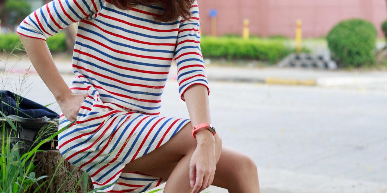 OOTD: Horizontal Stripes Shirt Dress Styling