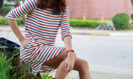 OOTD: Horizontal Stripes Shirt Dress Styling