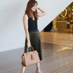 OOTD: Metallic Pleats