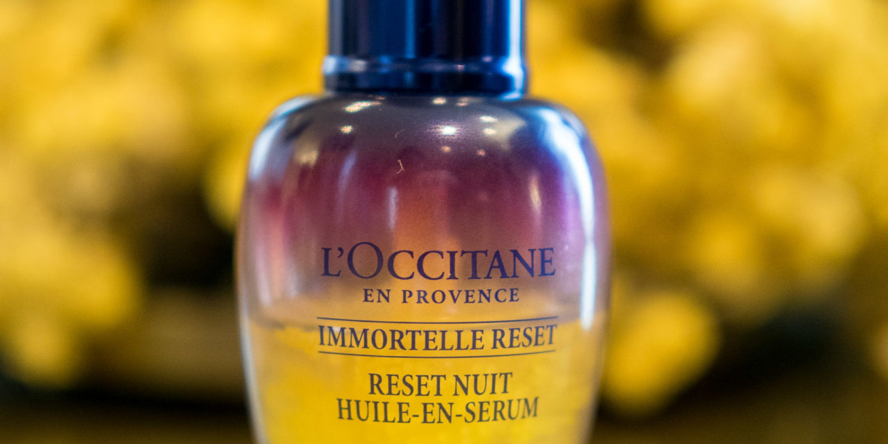 Gold Morning from L'Occitane Immortelle Reset Serum + Review